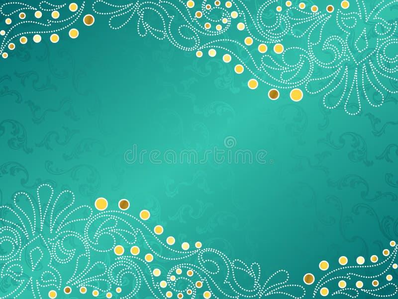 fin swirlsturkos för bakgrund royaltyfri illustrationer
