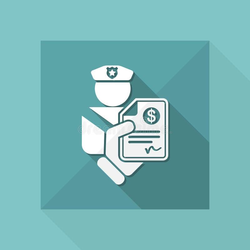 Fin symbol för polis stock illustrationer