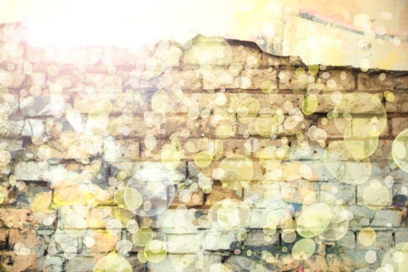 Fin vers le haut de fond de mur de bokeh avec le bokeh illustration libre de droits