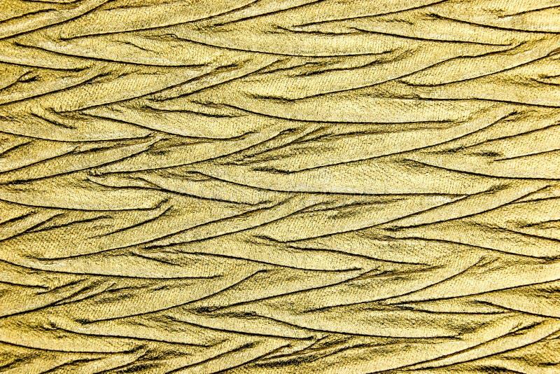 Fin vers le haut de matériel métallique de luxe d'or photos libres de droits