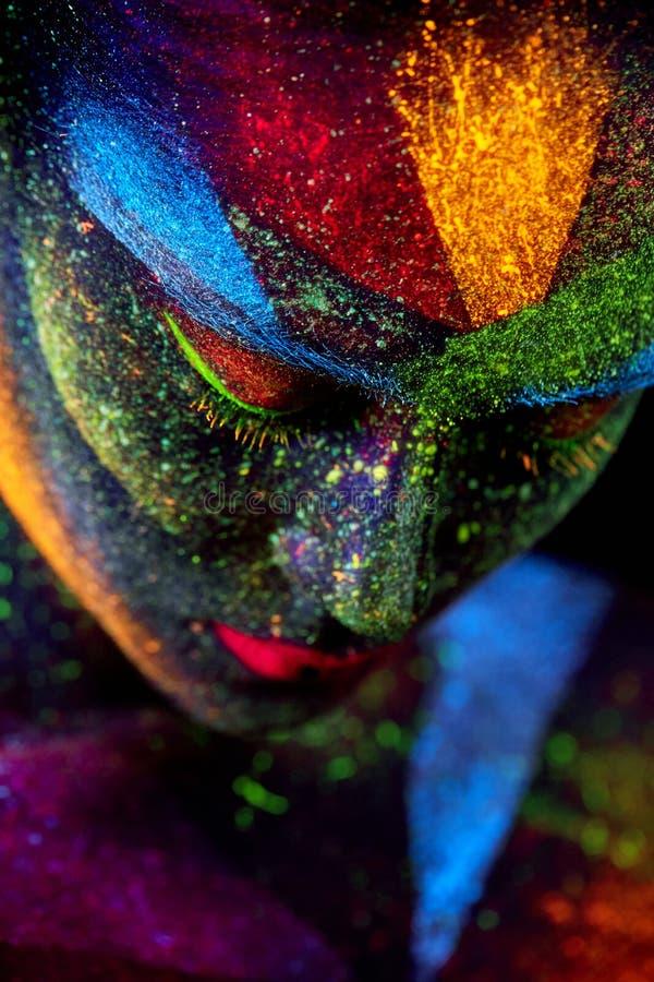 Fin vers le haut de portrait abstrait UV images stock