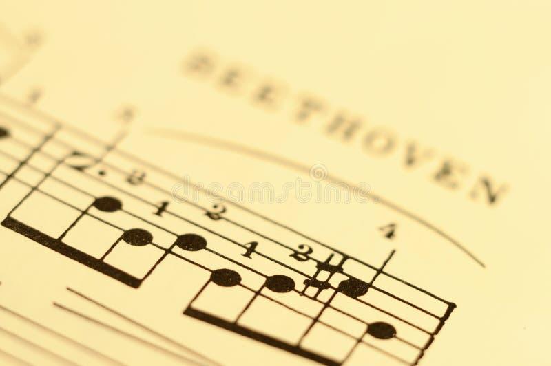 Fermez-vous vers le haut du score de musique image libre de droits