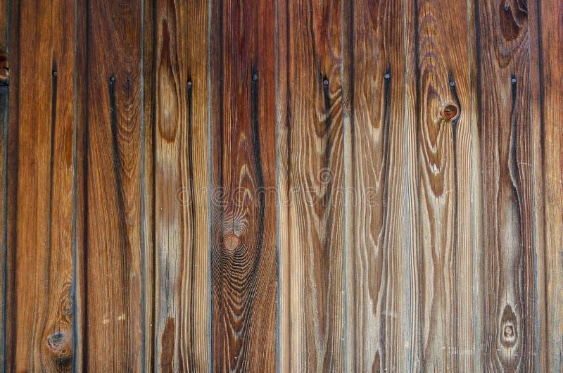 Fin vers le haut du plancher en bois de table de planche avec la texture naturelle de modèle Fond vide de conseil en bois photos libres de droits