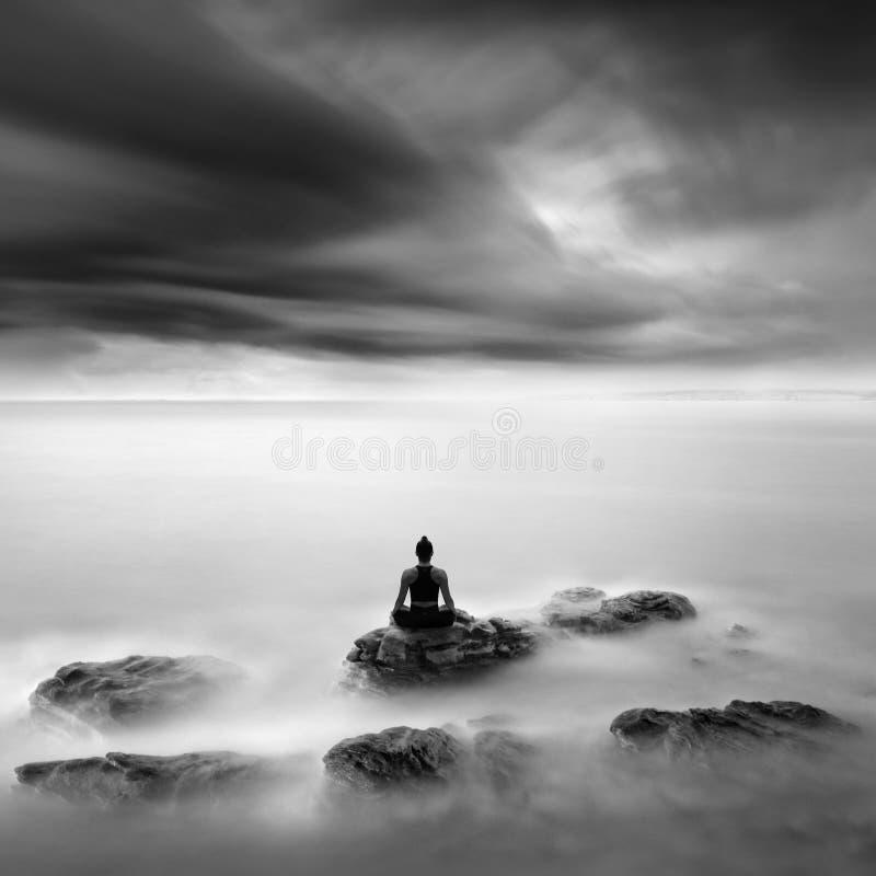 Fina Art Image av yogaövning arkivfoto