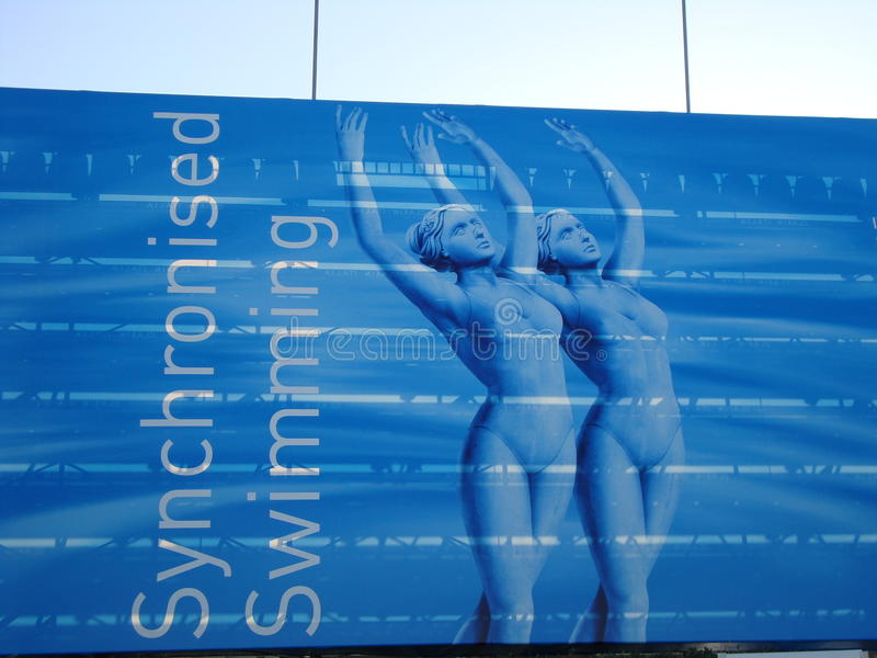 FINA World Championship. SYNCHRONISED SWIMMING at the FINA World Championship - Roma 2009 royalty free stock photo