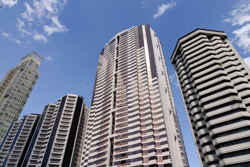 Finace-Gebäude an Makati-Stadt in Manila, Philippinen lizenzfreies stockbild