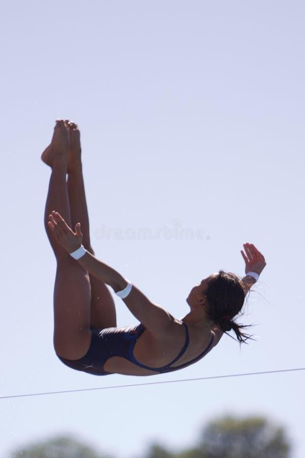 Finais de mergulho dos 10m das mulheres - rome09 fotos de stock