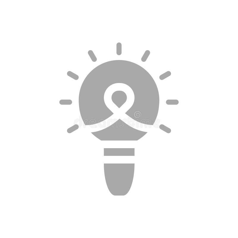 Bulb, light , business light, idea, team, Creative business idea grey color icon. Bulb, light , business light, idea, Creative business idea purple color icon royalty free illustration