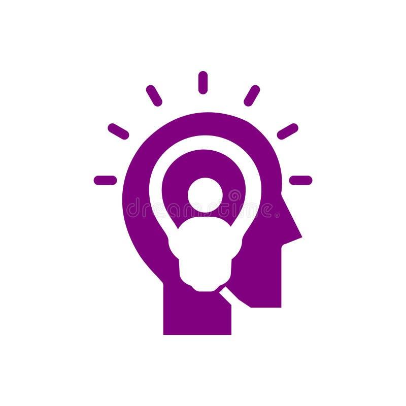 Bulb, light , business light, idea, team, Creative business idea purple color icon. Bulb, light , business light, idea, Creative business idea purple color icon stock illustration