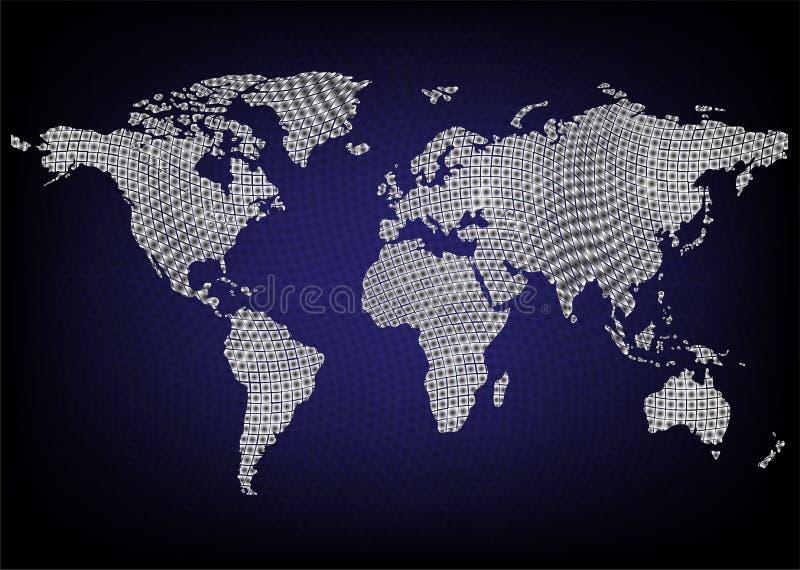 Final azul del mapa imagen de archivo libre de regalías