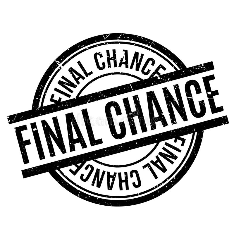 Final Chance rubber stamp vector illustration