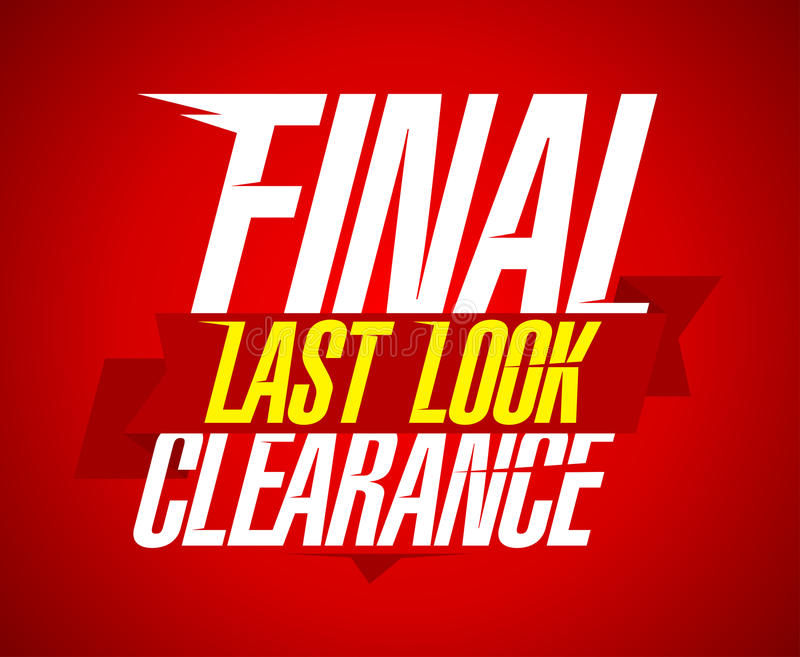 Final clearance design, last look. stock illustration