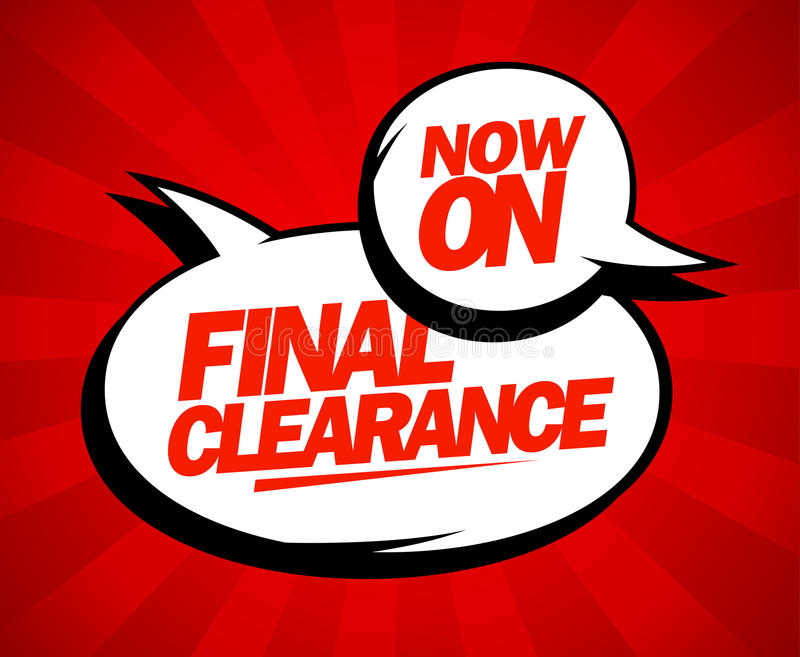 Final clearance design in pop-art style. vector illustration