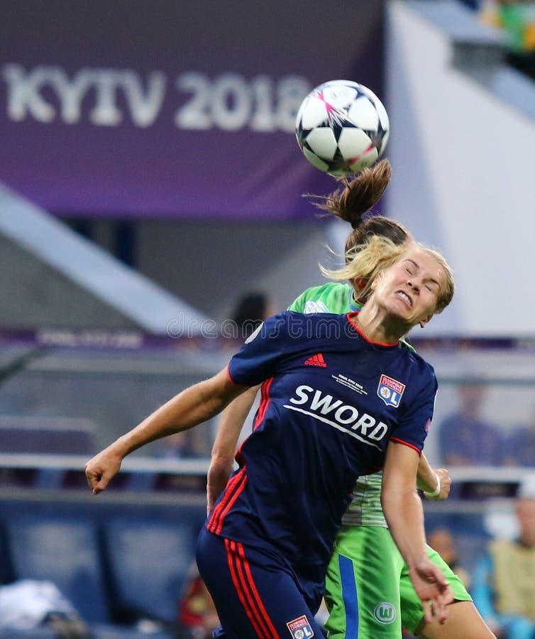 Final da liga dos campe?es das mulheres do UEFA Wolfsburg 2018 v Lyon imagens de stock