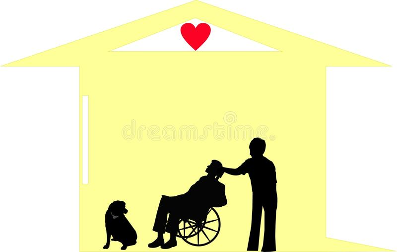 Download Final Days Together With Dignity, In Their Home! Stock Vector - Image: 11705313