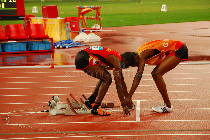 Final del atletismo T11 de los 400m de los hombres fotos de archivo