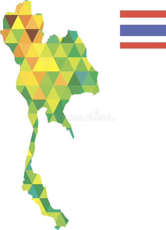 Final del mapa de Tailand fotografía de archivo