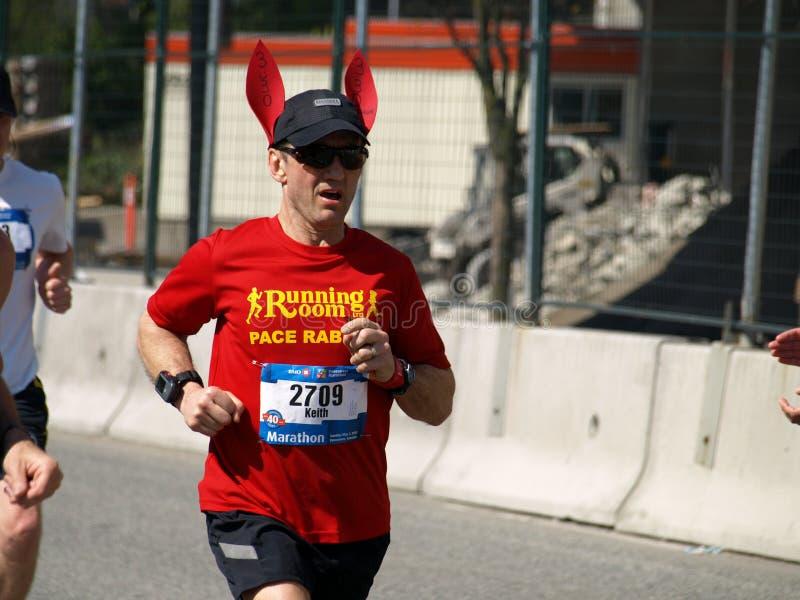 Final del maratón de Vancouver imagen de archivo