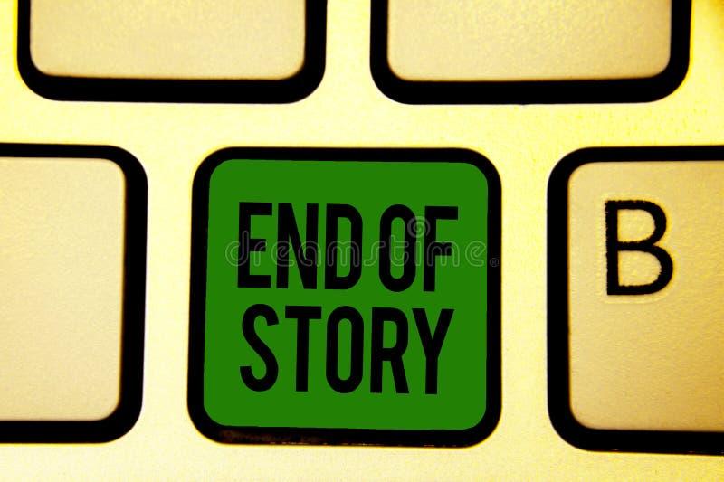 Final del texto de la escritura de la palabra de la historia Concepto del negocio para Emphasize que nada añadir el verde KE del  foto de archivo libre de regalías