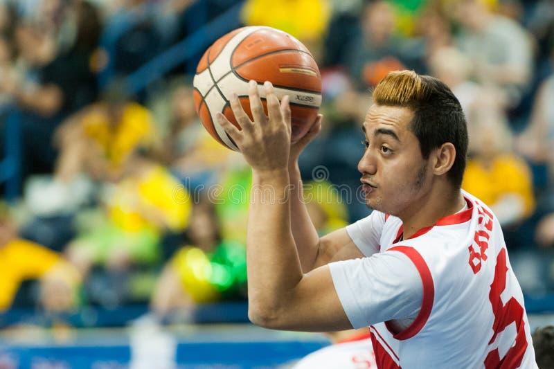 Final do campeonato do basquetebol de cadeira de rodas do mundo imagem de stock