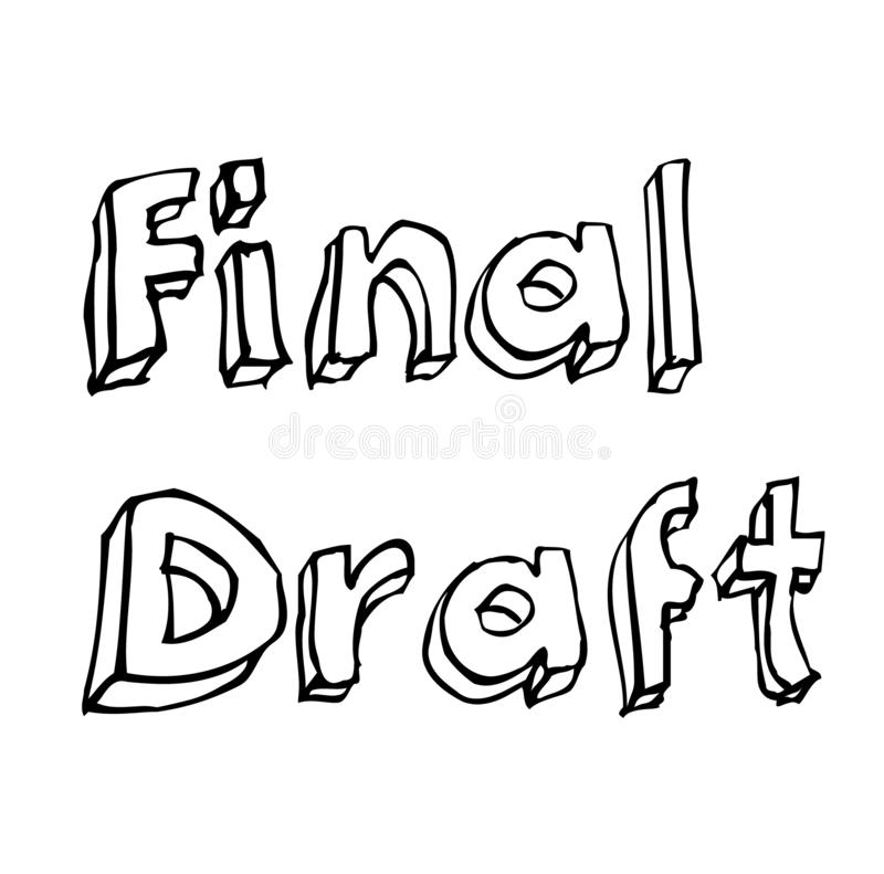 FINAL DRAFT stamp on white background. Stickers labels and stamps series royalty free illustration