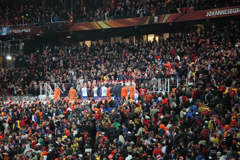 Final en el estadio de la ciudad del fútbol fotografía de archivo