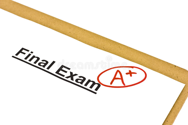 Download Final Exam Marked With A+ stock photo. Image of results - 8261864