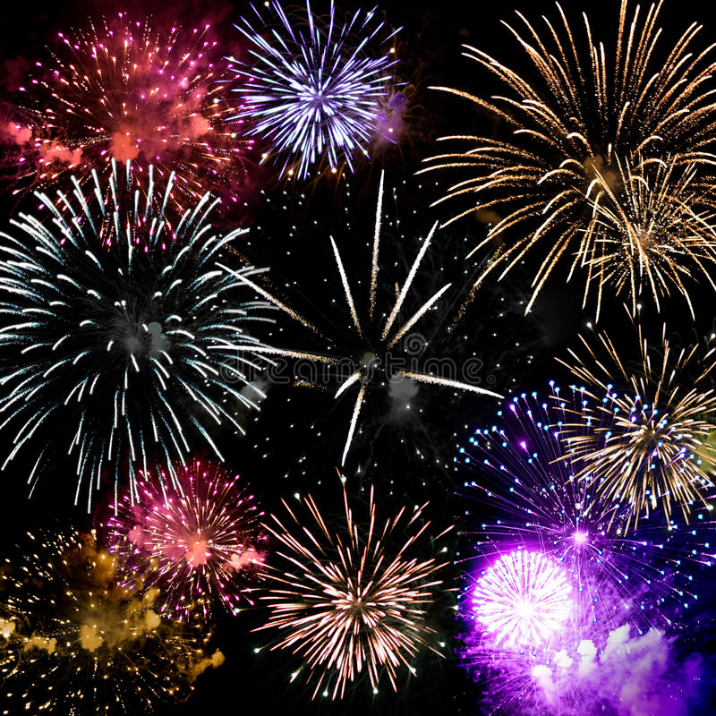 Final grande dos fogos-de-artifício foto de stock royalty free