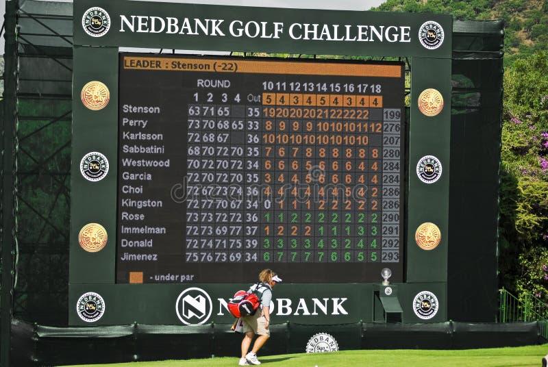 Final Hole Scoreboard - Nedbank Golf Challenge stock photos
