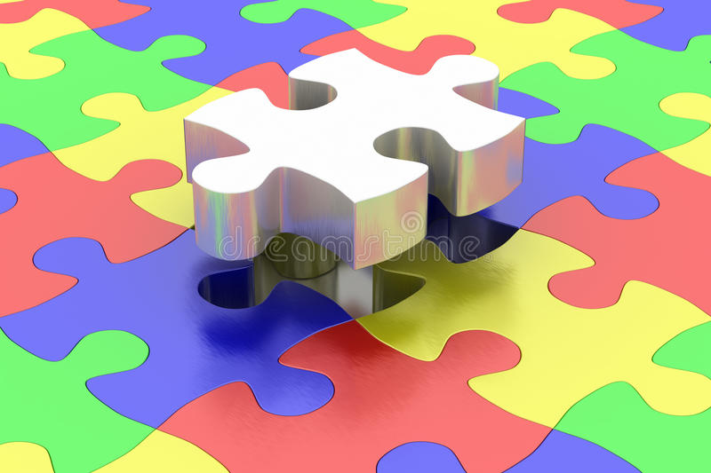 Final jigsaw piece royalty free stock images