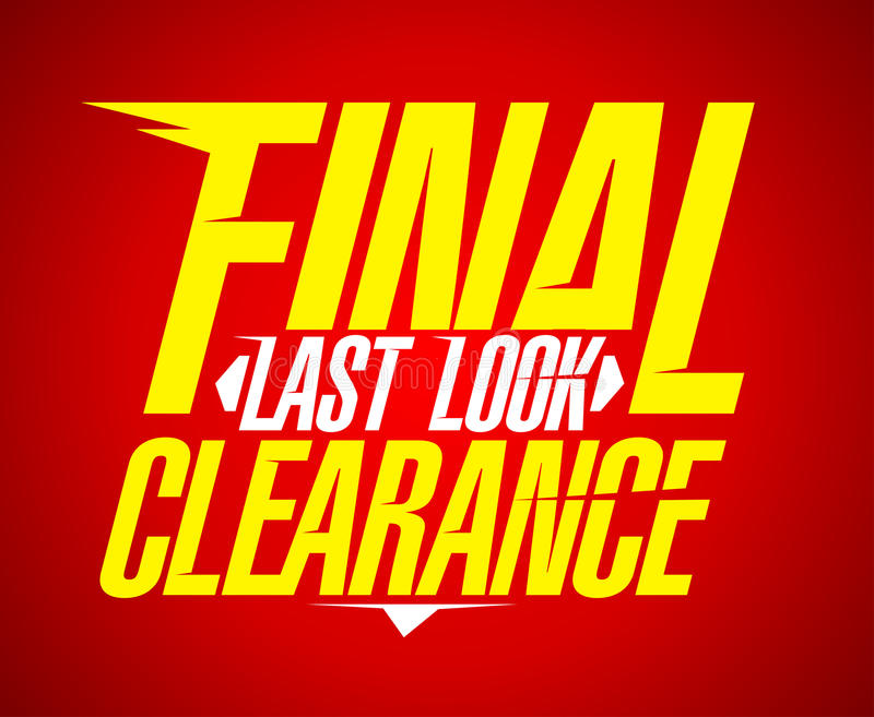 Final last look clearance design. royalty free illustration