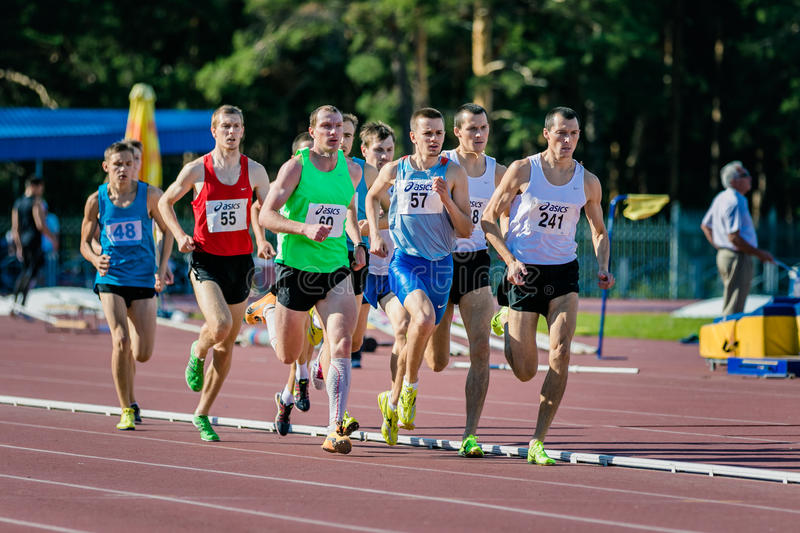 Final of 1500 meters for men royalty free stock image