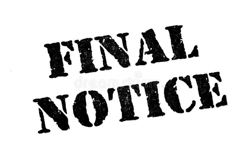 Final Notice vector illustration