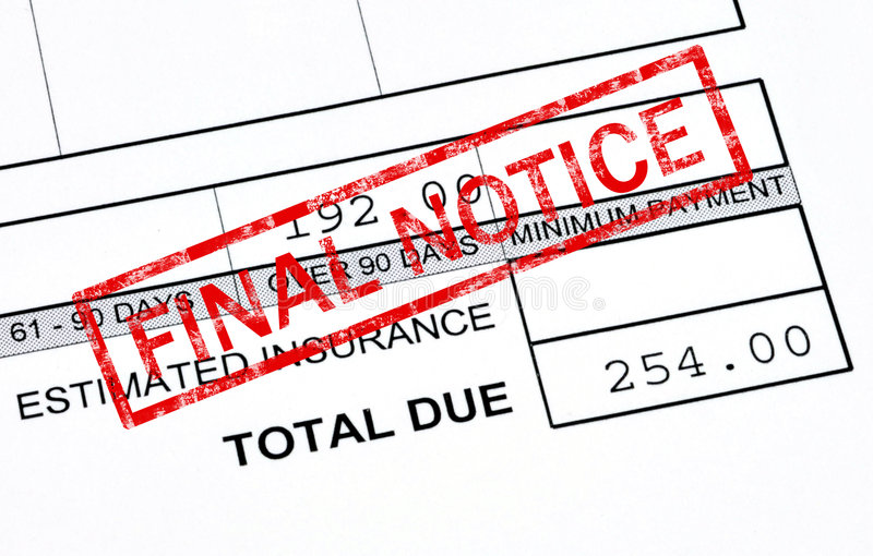 Download Final notice stock image. Image of final, outstanding - 8210597