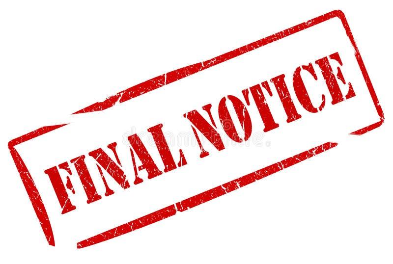 Final notice stamp. Illustration o final notice grunge stamp stock illustration