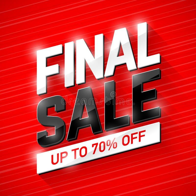 Final Sale banner stock illustration