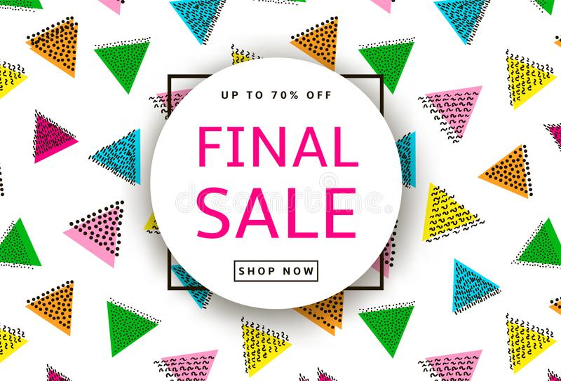 Final Sale. Creative template for poster, banner, business card royalty free illustration