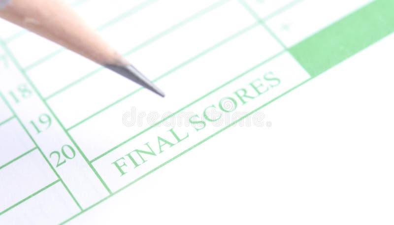 Final scores form royalty free stock photos