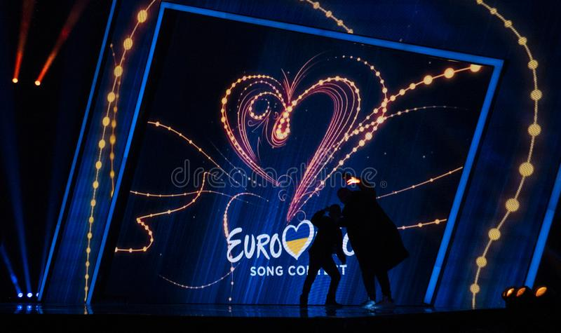 Final of Ukraine`s selection for Eurovision 2019 royalty free stock photos