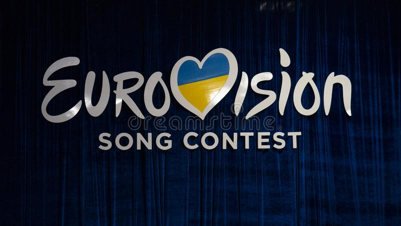 Final of Ukraine`s selection for Eurovision 2019. Kyiv, Ukraine, 23 February 2019: Final of Ukraine`s selection for Eurovision 2019 royalty free stock image