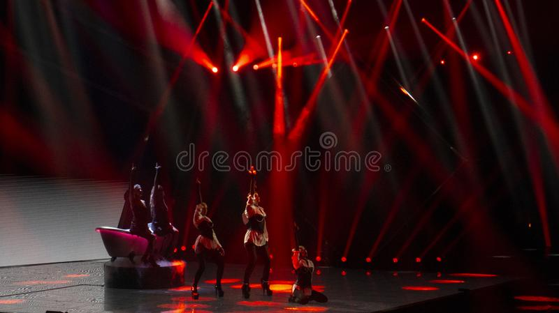 Final of Ukraine`s selection for Eurovision 2019. Winner royalty free stock photo