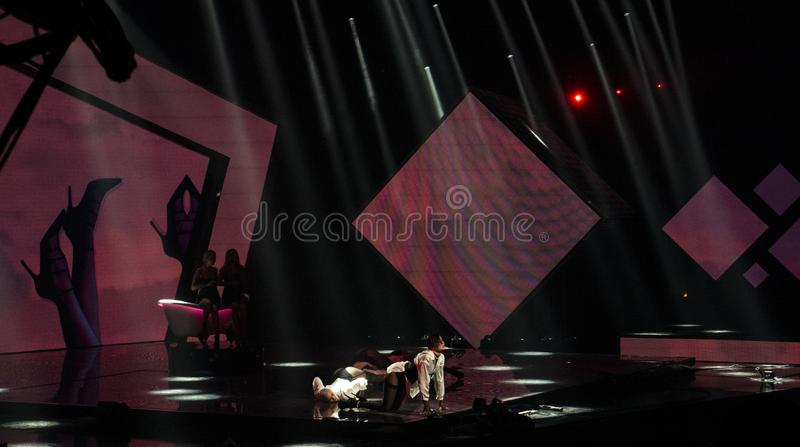 Final of Ukraine`s selection for Eurovision 2019. Winner royalty free stock photos