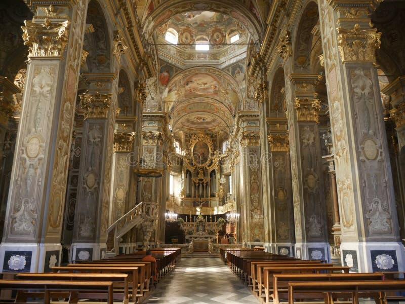 Finalborgo - St Biagio Church royaltyfria foton