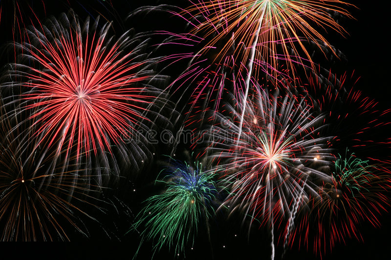 Finale de feux d'artifice photo stock