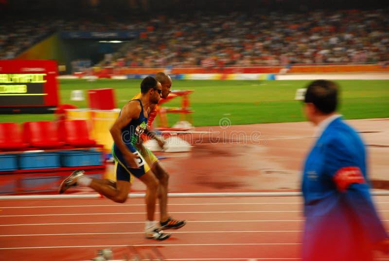 Finale de l'athlétisme T11 de 400m des hommes image libre de droits