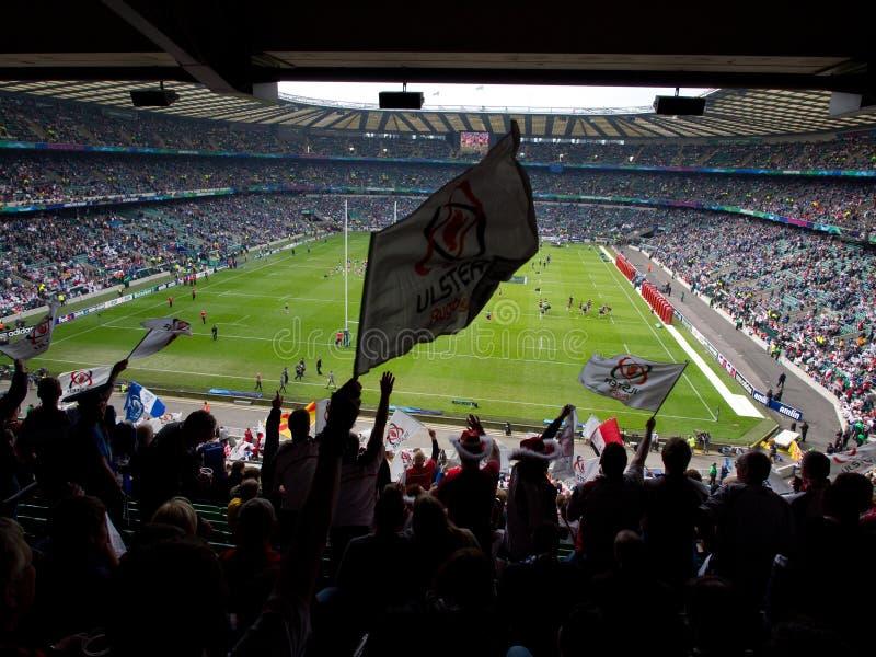 Finale de la Coupe d'Européen des syndicats de rugby (heineken) photographie stock libre de droits