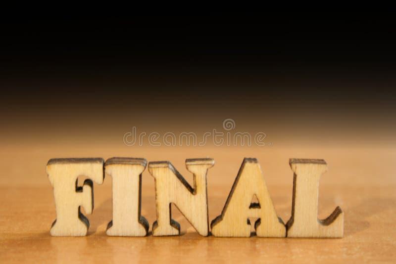 Finale de Word image stock