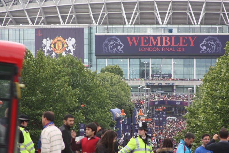 Finale di Champions League in Wembley, Londra fotografie stock