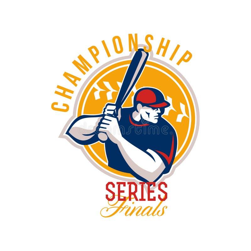 Finales de la serie del béisbol del campeonato retros stock de ilustración