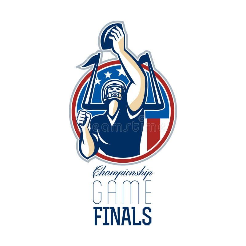 Finales del partido del campeonato del fútbol americano libre illustration